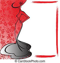 Frame mit der weiblichen Silhouette
