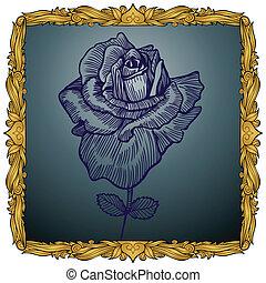 Framed Rose.