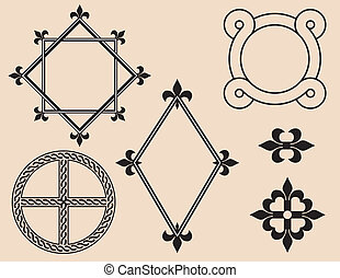 Frames und dekorative Elemente