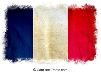 Frankreichs Grungeflagge