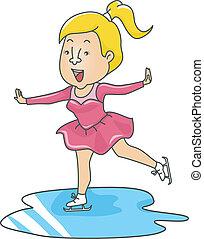 Frau Eislaufen