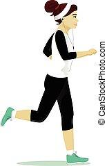 Frau läuft.