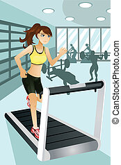 Frauenübungen im Fitnessstudio