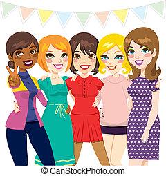 Frauen-Freundinnen-Party