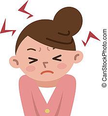 Frauen frustriert durch Stress.