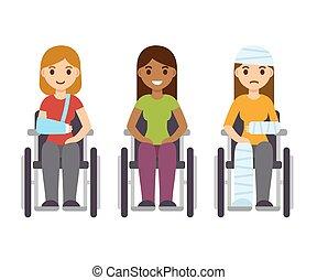 Frauen im Rollstuhl