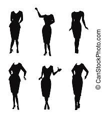 Frauen in Silhouette.