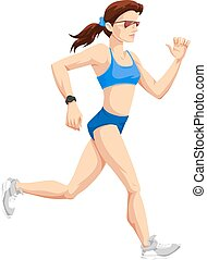 Frauen, rennen, Farbbilder