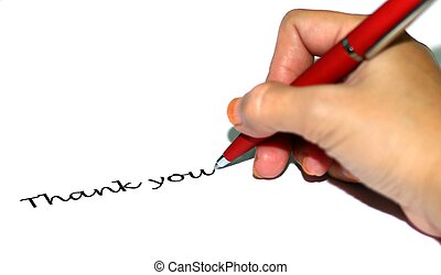 Frauen schreiben Danke.