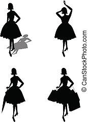 Frauen-Silhouette