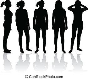 Frauen Silhouette.