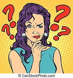 Frauen skeptische Gesichtsausdrücke