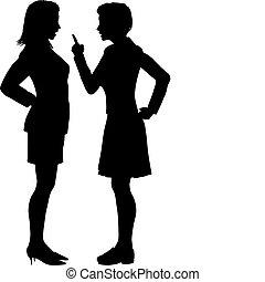 Frauen streiten Streit