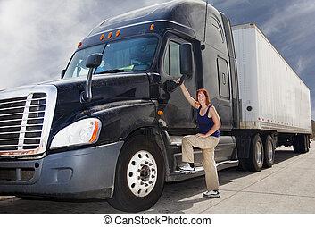Frauen-Truckfahrer