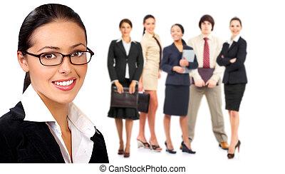 Frauen und Geschäftsleute.