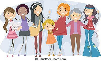 Frauen verschiedener Generationen