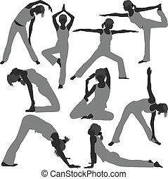 Frauen-Yoga-Übungen sind gesund