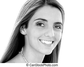Frauenbild-Lächeln