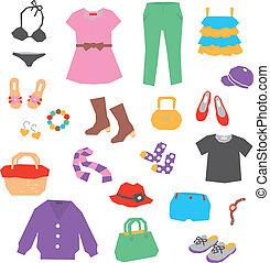 Frauenkleidung und Accessoires