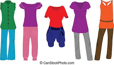 Frauenmode - Kleidung.