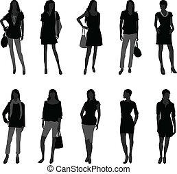 Frauenmodisches Model
