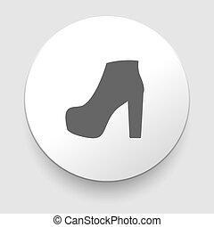 Frauenschuhe Ikone, Vektorgrafik.