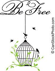 Freie Vogelkäfige.