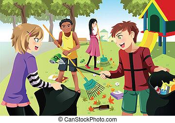 Freiwillige Kinder