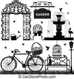 freizeit, park, kleingarten