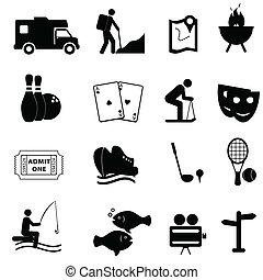 Freizeit und lustige Ikonen