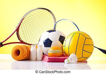 Freizeitsportausrüstung.