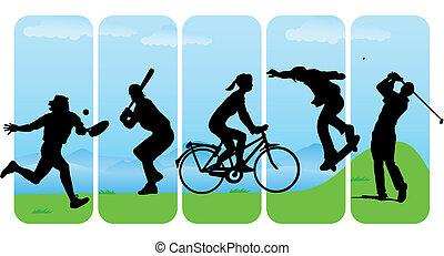 Freizeitsportsilhouette