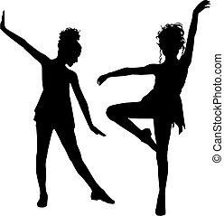 Freude tanzende Kinder.