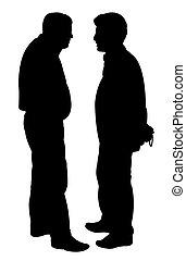 Freunde Silhouette.