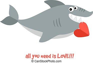 Freundlicher lächelnder Hai.