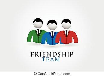 Freundschafts-Team-Logo.