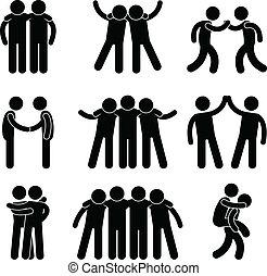 Freundschaftsbeziehungsteam