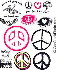 Frieden und Glück.