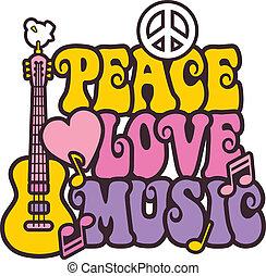 Friedensliebe Musik in hellen Farben