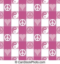Friedenspflaster in rosa