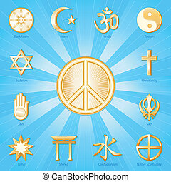 Friedenssymbol, Weltreligionen