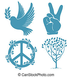 Friedenssymbole.