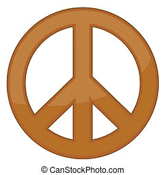 Friedenszeichen / Bronze / Vector