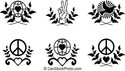 Friedenszeichen.