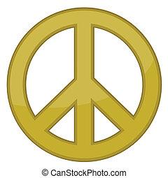 Friedenszeichen / Gold / Vektor