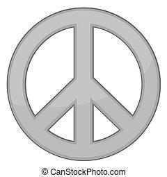 Friedenszeichen / Silber / Vektor