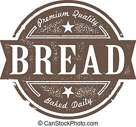 Frisch gebackenes Brot-Label
