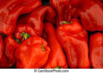 Frische Marktfrüchte und Gemüse.