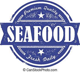 Frische Meeresfrüchte-Label
