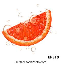 Frische saftige Grapefruit-Hintervermietung